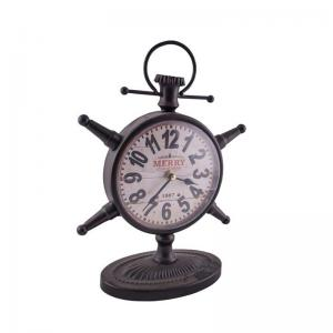 anchor-clock-brown - wall-clocks